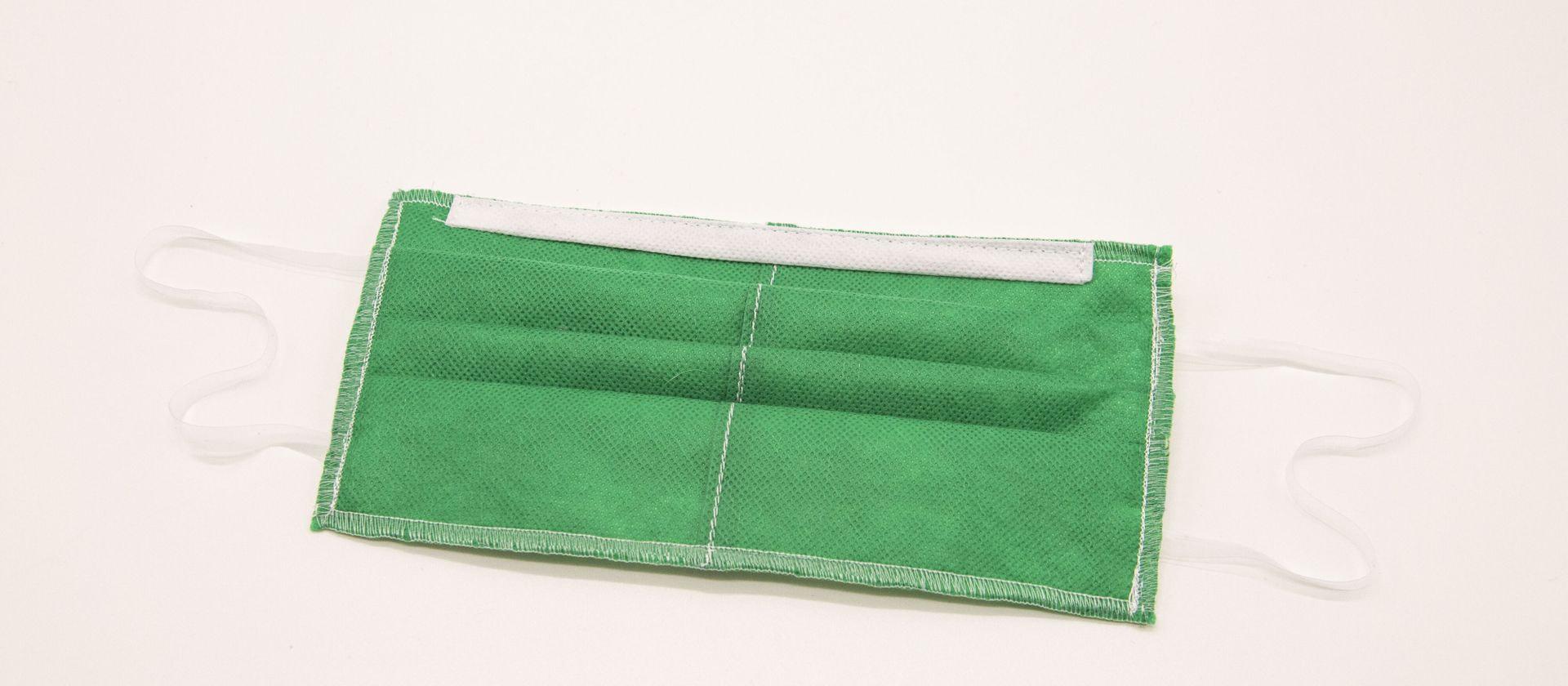 Mascherine Lavabili per Bambini 7-9 anni verde