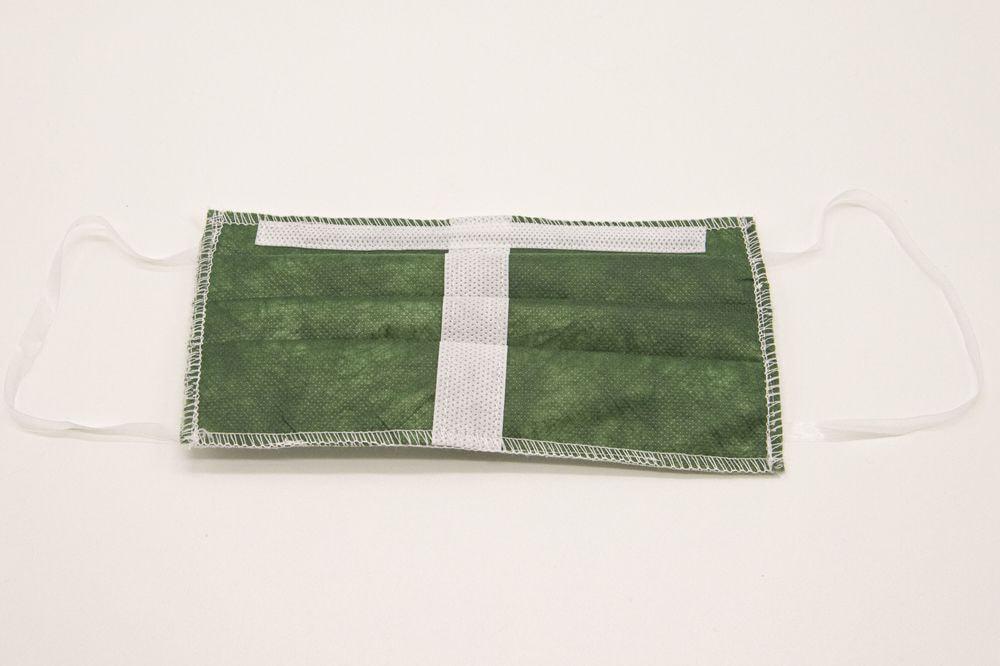 Mascherina Protettiva Lavabile verde bosco XXL