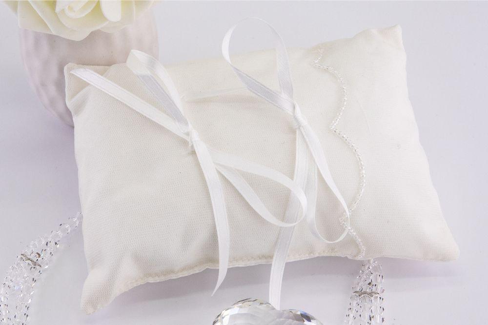 Cuscino portafedi in tafta