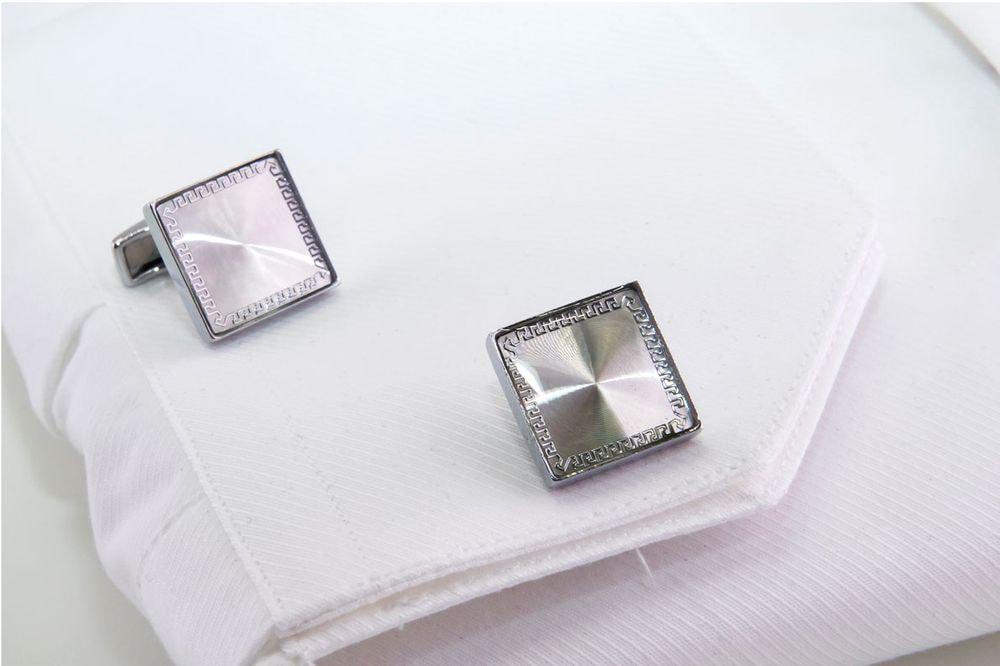 gemelli quadrati argento lavorati