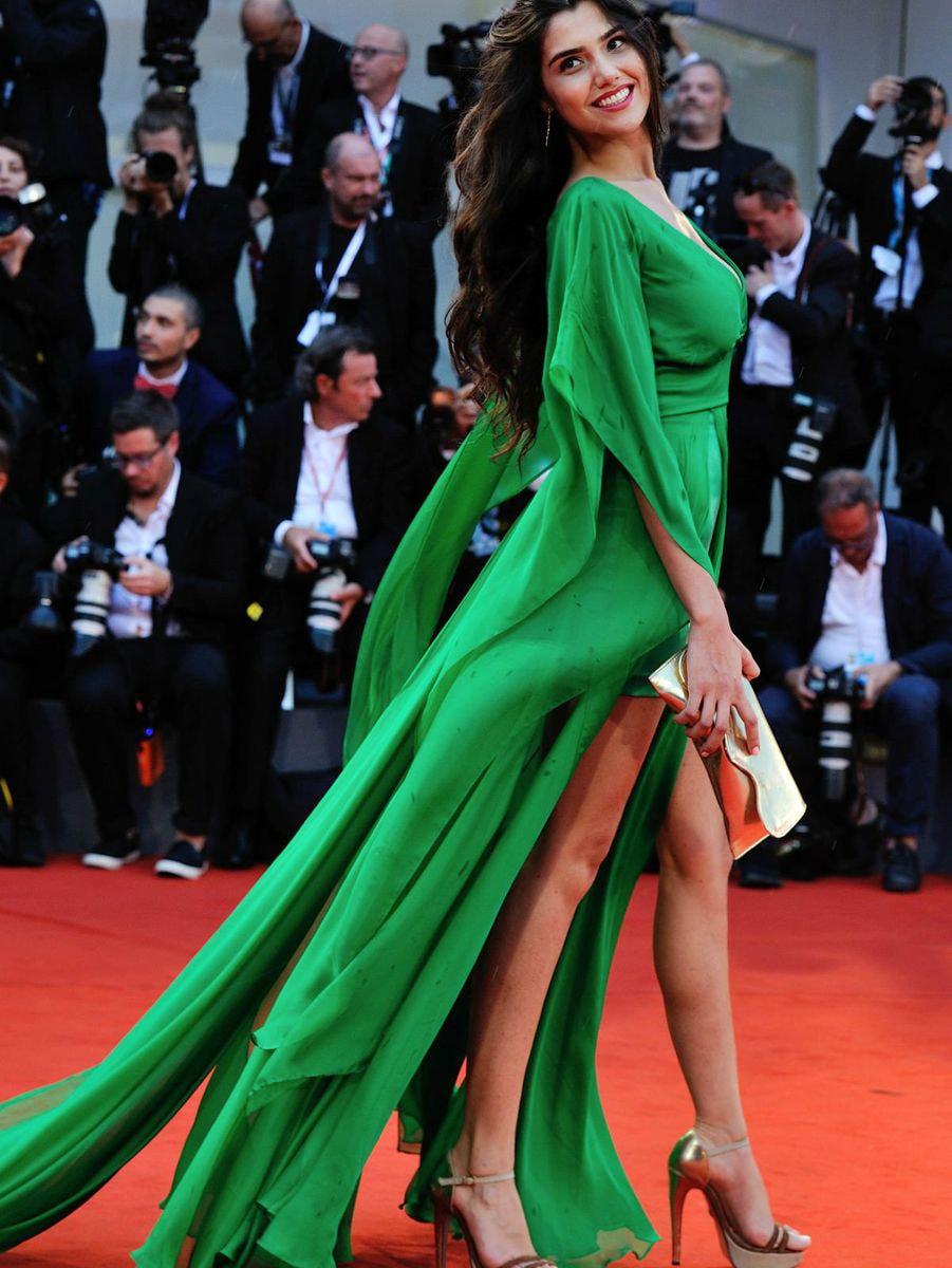 loredana, green, dress, red carpet