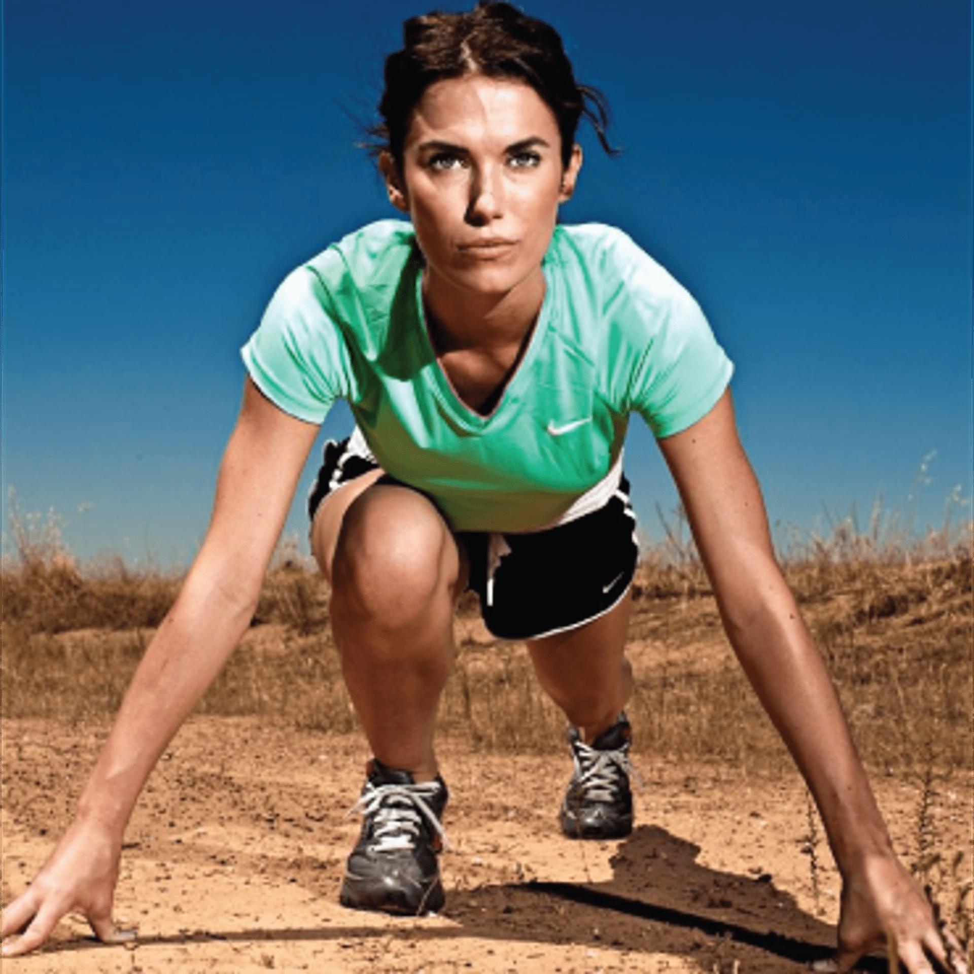 athlete, runner, woman, desert