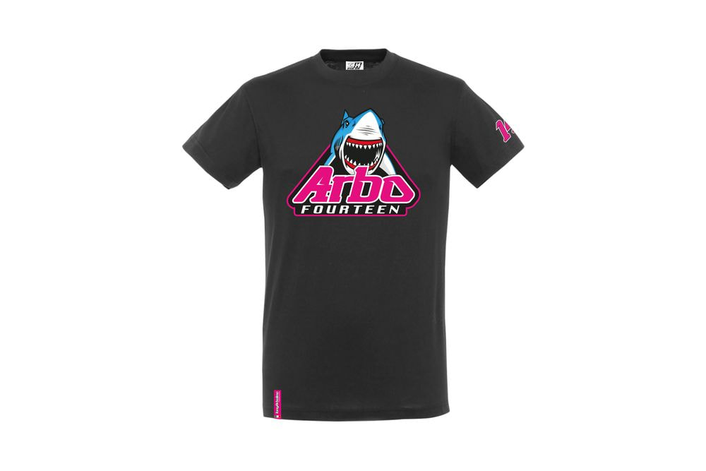 T-Shirt Shark Attack Black L