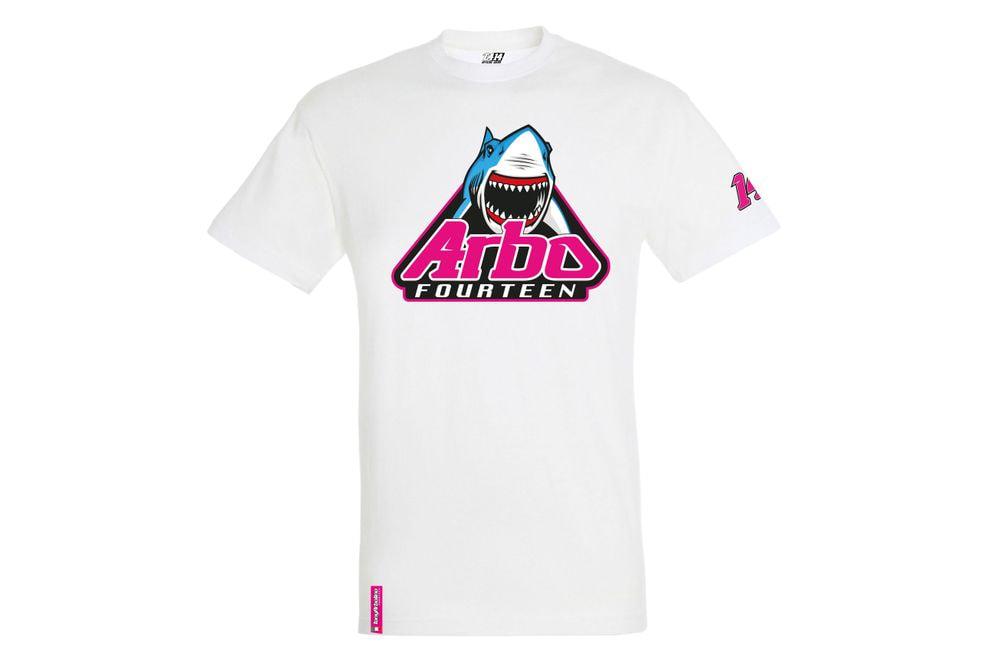 T-Shirt Shark Attack White XL