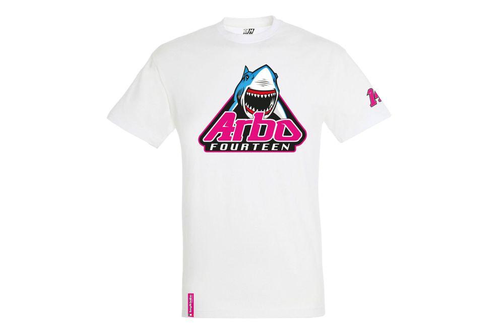 T-Shirt Shark Attack White XS
