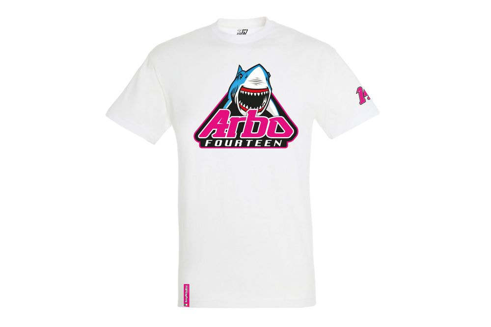 T-Shirt Shark Attack White S