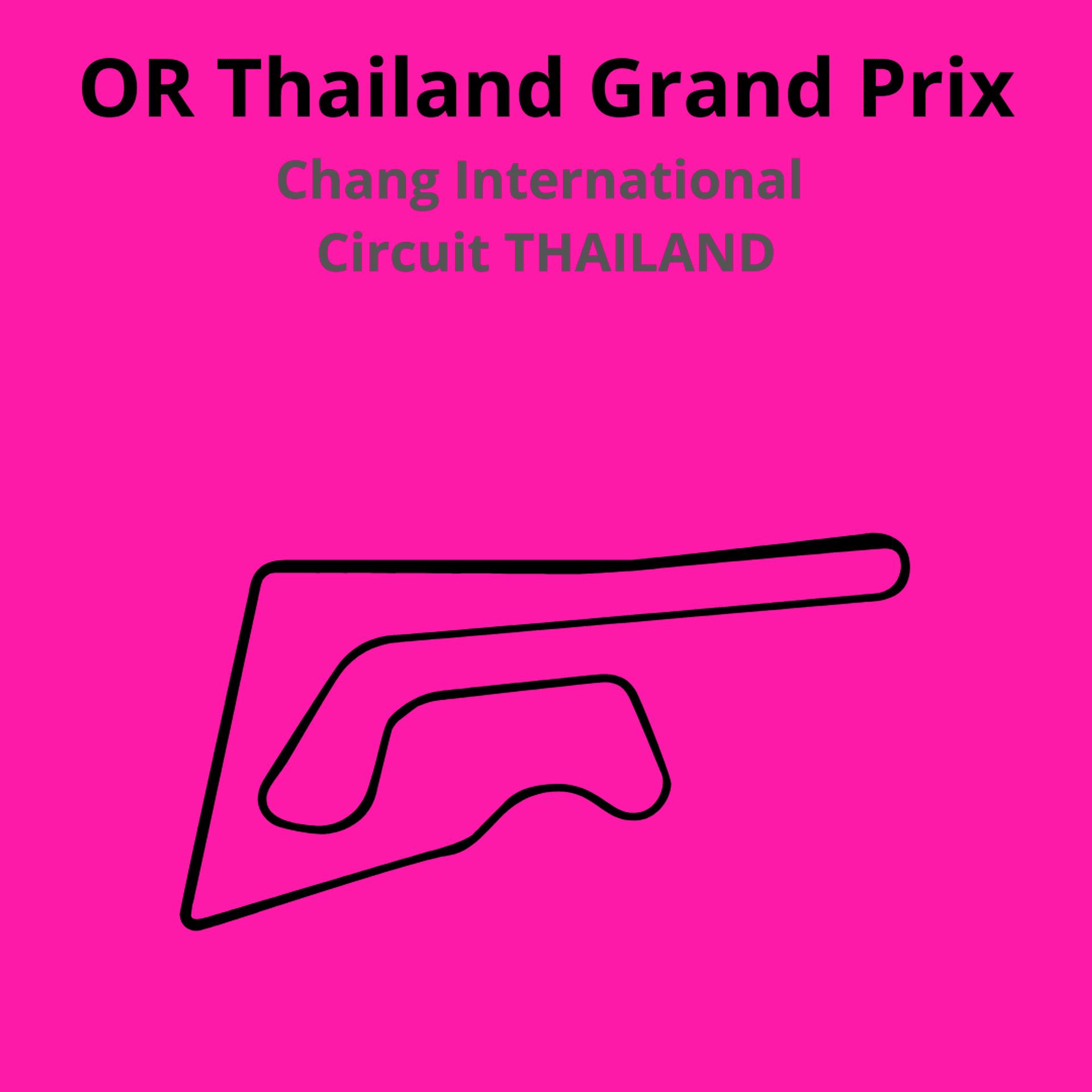 OR Thailand Grand Prix. Scopri tutte le gare del moto mondiale 2021.Le caratteristiche di ogni circuito, i record e difficoltà.Segui insieme a noi tutte le gare di Tony Arbolino nella sua nuova avventura in Moto2
