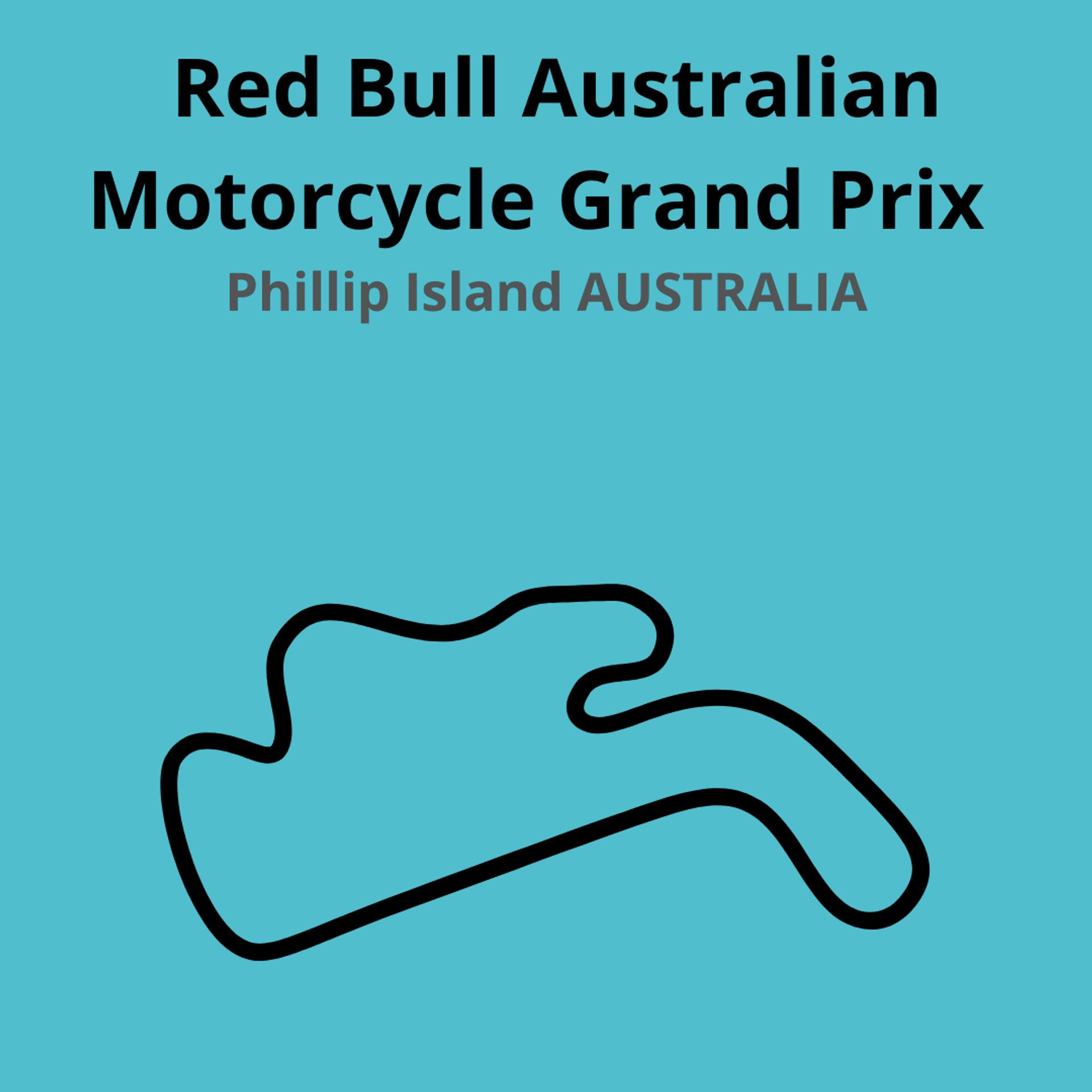 Red Bull Australiaan Motorcycle Grand Prix. Scopri tutte le gare del moto mondiale 2021.Le caratteristiche di ogni circuito, i record e difficoltà.Segui insieme a noi tutte le gare di Tony Arbolino nella sua nuova avventura in Moto2