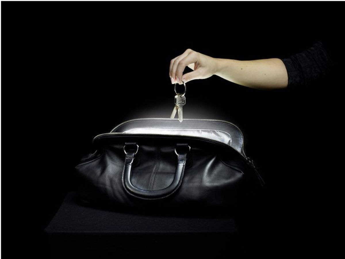 Special Women: automatically led sensor light to illuminate the handbag
