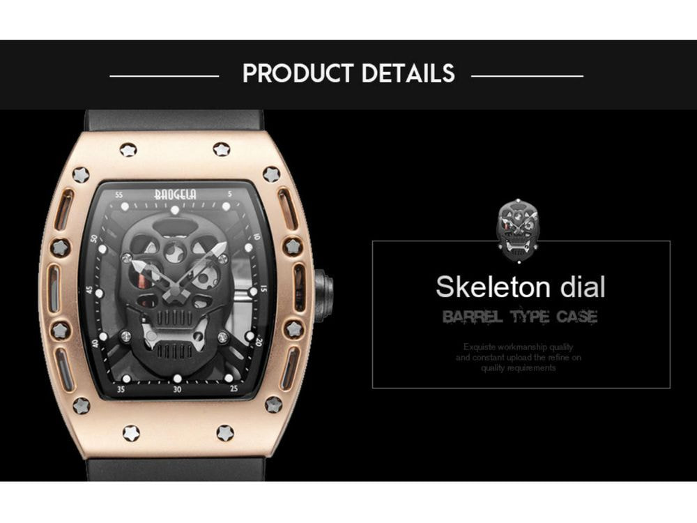 Trendy limited Skull Watch