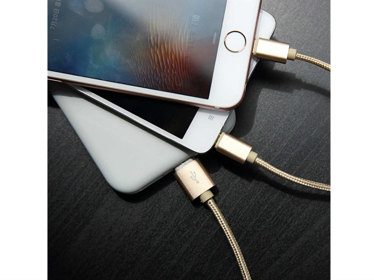 ROCK 1.2 meter usb fast phone cable charger for: Samsung – ipoone – ipad  -huawei – xiaomi