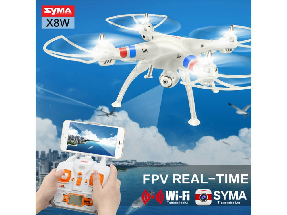 Syma Drone X8W RC Helicopter Drone with Camera 2.4G 4CH