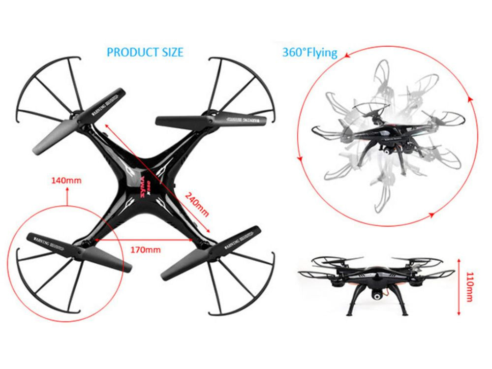 SYMA X5SC RC Drone 2.4G 6 Axis GYRO RC – HD Camera 360 Degree Eversion Helicopter
