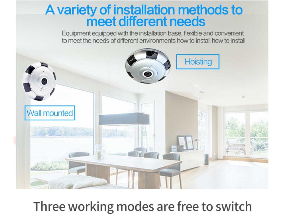 HD security camera 1080P 360 degree - WiFi Panoramic - EU plug