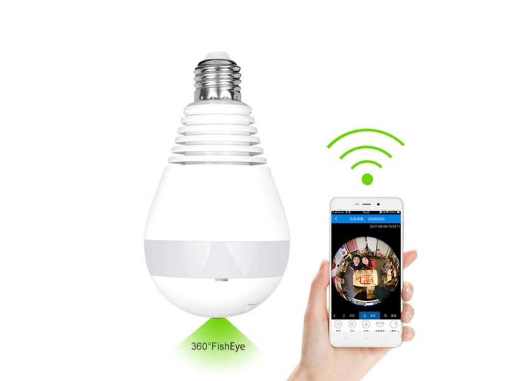 Security video camera including in Bulb LED Light wifi HP – 960P 360 degree – EU Plug