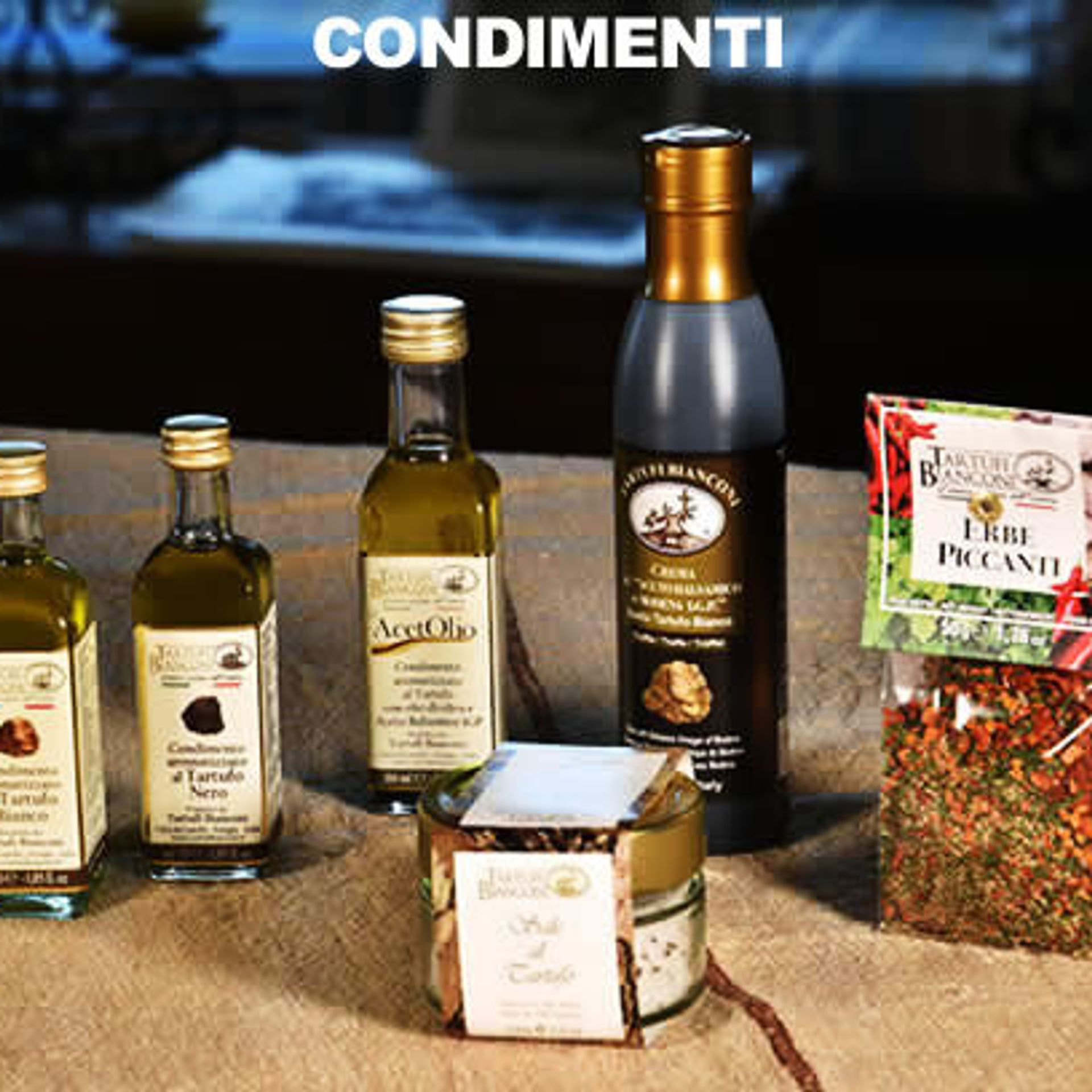 condimenti, sale, olio, spezie,tartufi bianconi