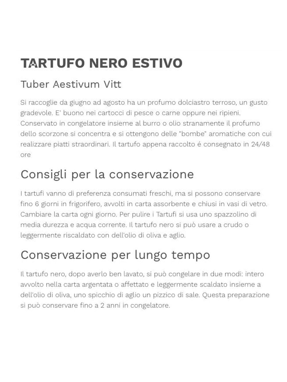 TARTUFO NERO ESTIVO  (Tuber Aestivum Vitt) 100gr.