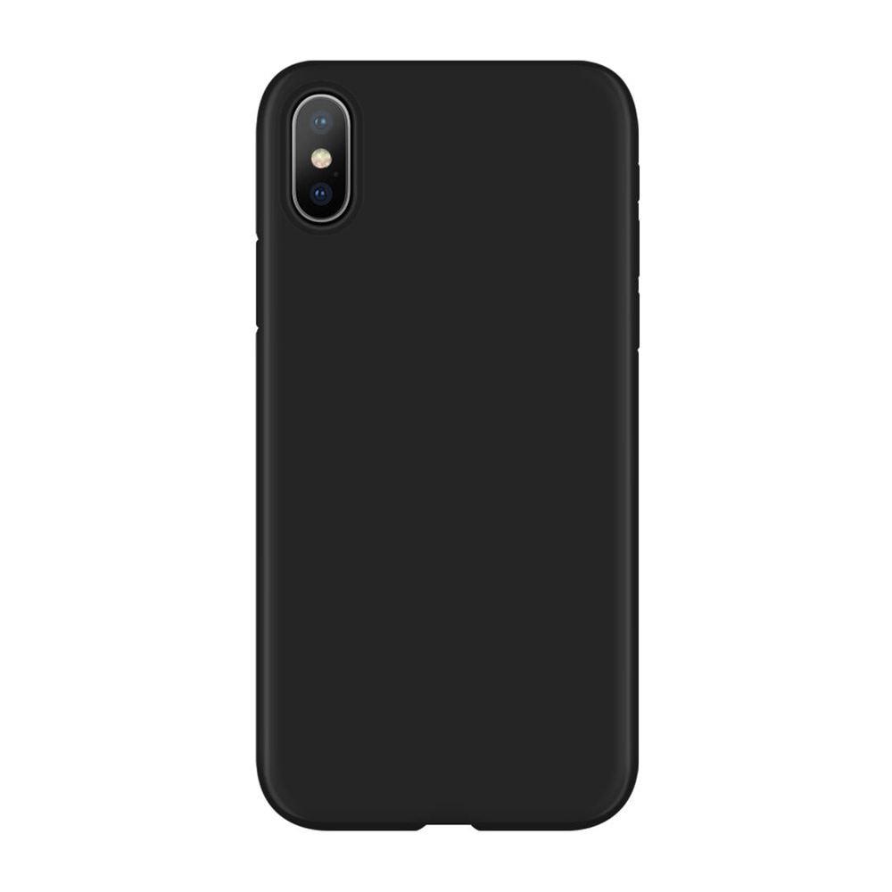 Black basic phone case