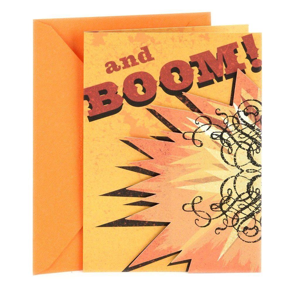 Boom Birthday Card