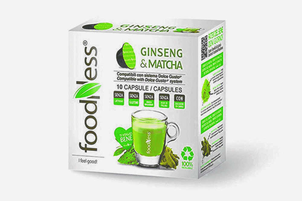 FOODNESS Ginseng & Matcha in capsule (Dolce Gusto) 50pz