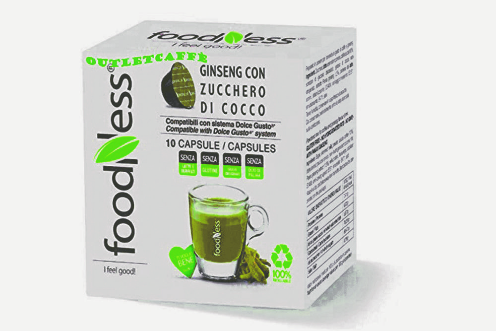 FOODNESS Ginseng con zucchero di cocco in capsule (Dolce Gusto) 50pz