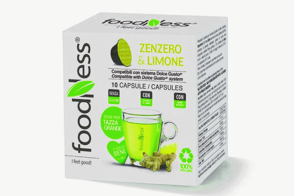 FOODNESS Zenzero & limone in capsule (Dolce Gusto) 50pz