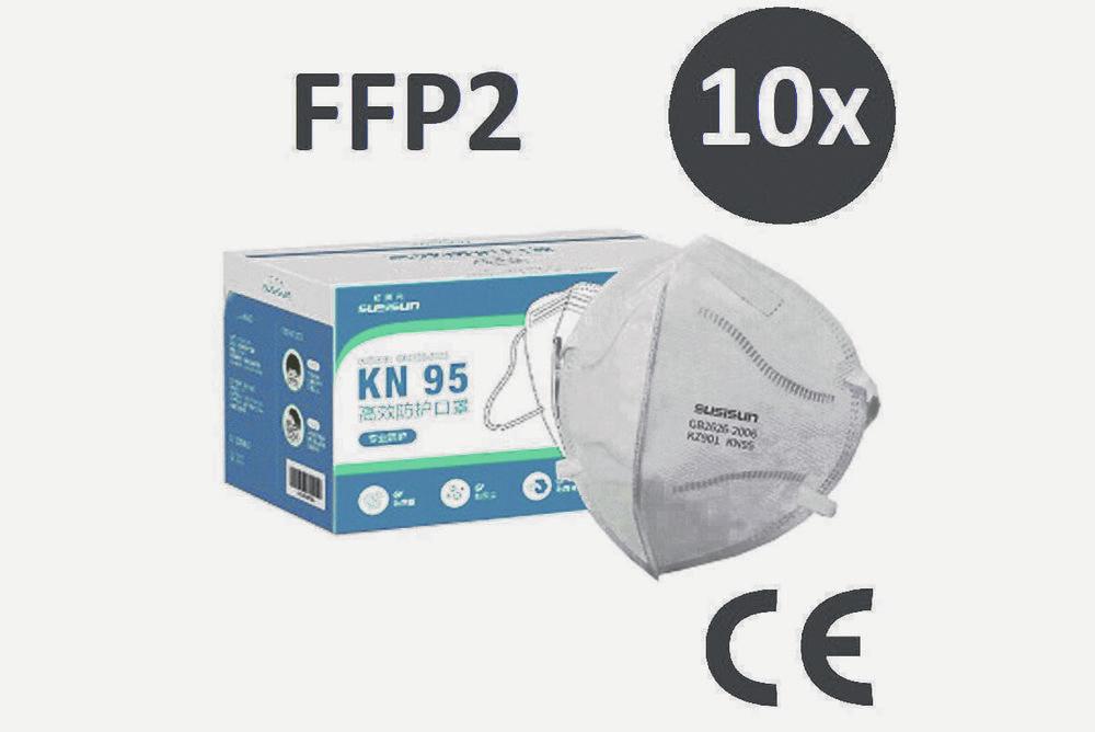 Mascherine SLISISUN FFP2 KN95 - 10 pezzi  -    (Fr. 9,50 il pezzo)