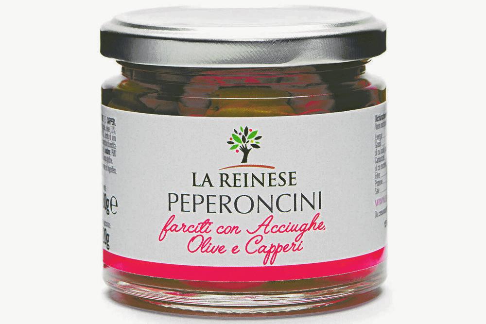 REINESE - PEPERONCINI CON ACCIUGHE, OLIVE E CAPPERI 180g
