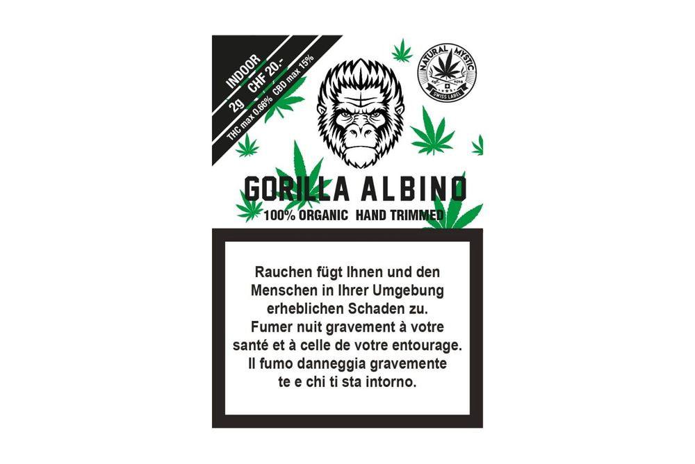 Gorilla Albino Premium Organic CBD 2g INDOOR