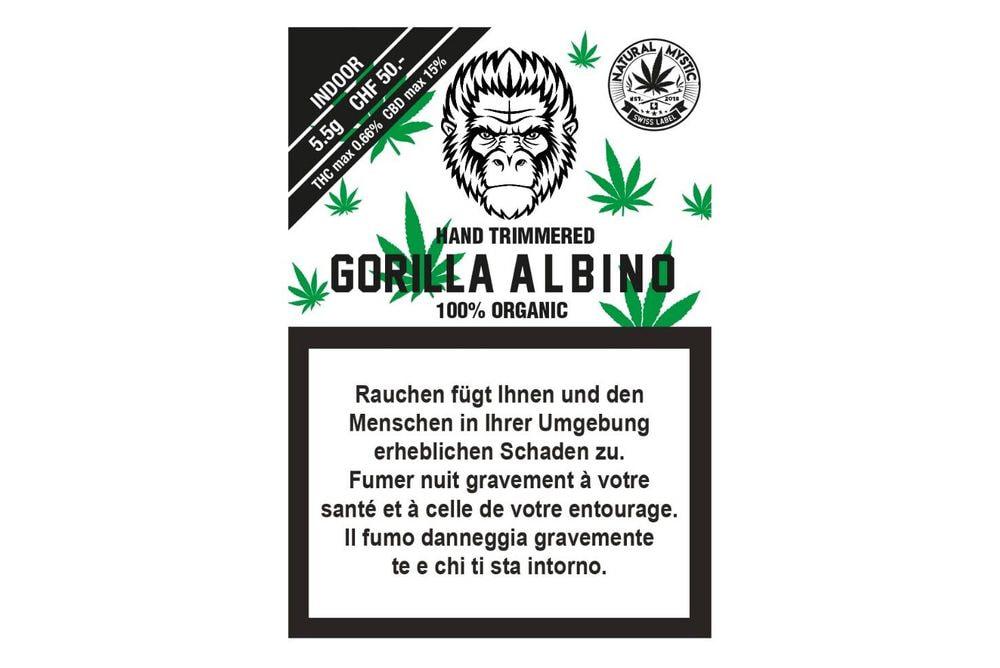 Gorilla Albino Premium Organic CBD 5.5g INDOOR
