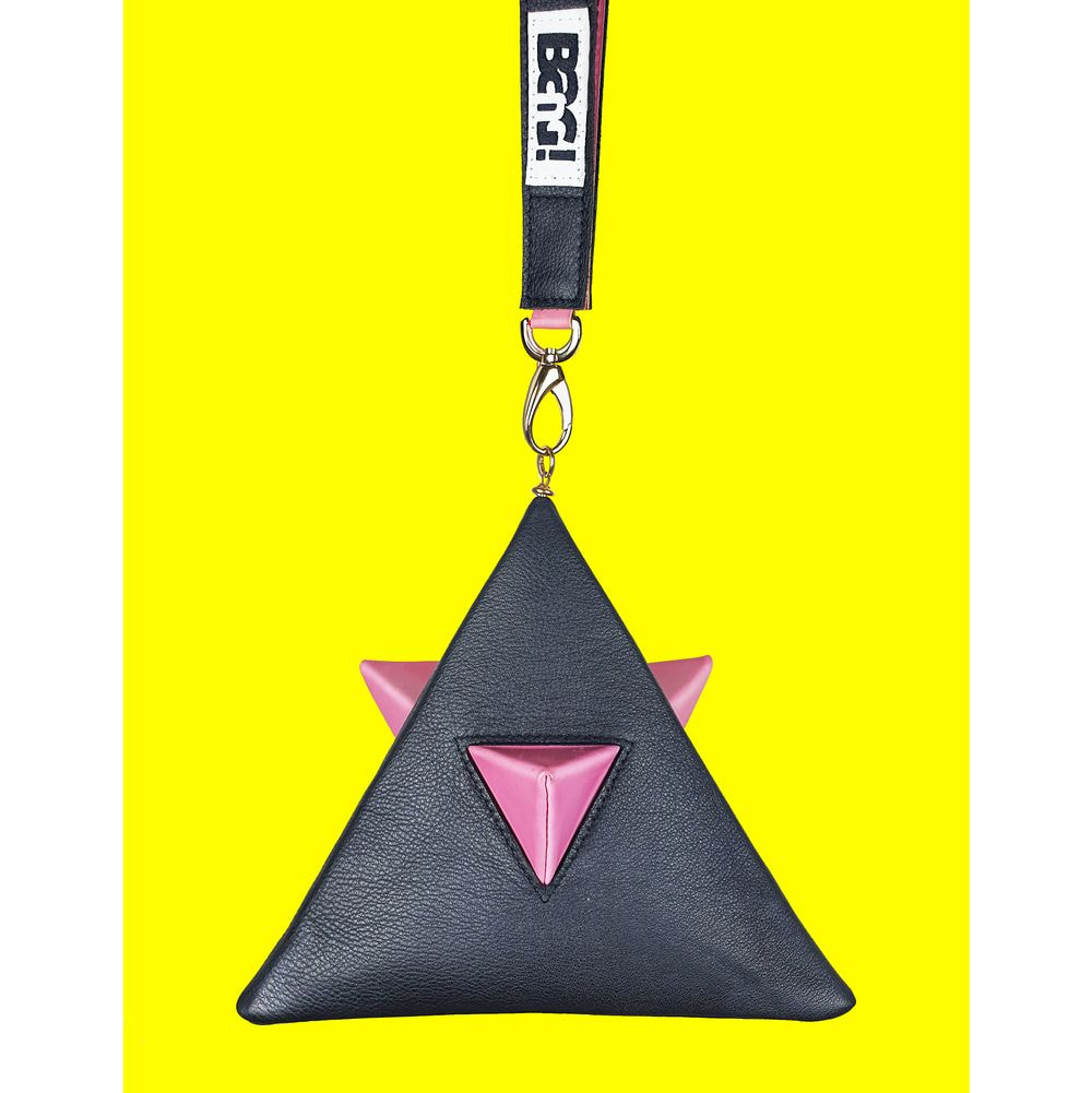 Pyramid bag black&pink