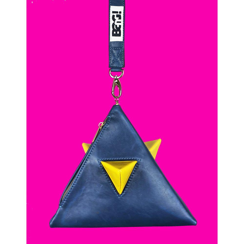 Pyramid bag ultramarine blue or yellow