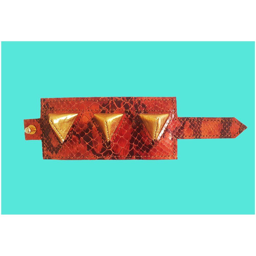 Studded bracelet bronze