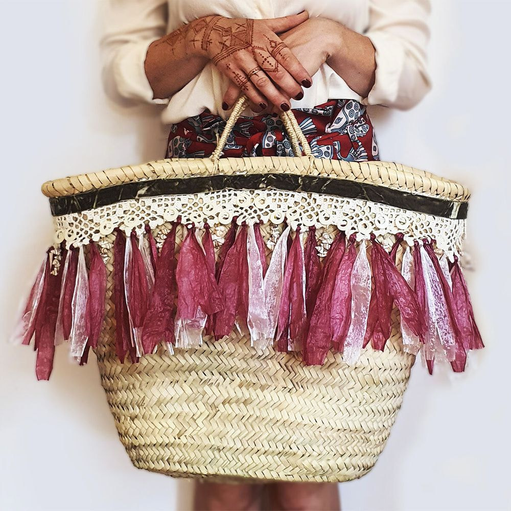 straw bag, big size