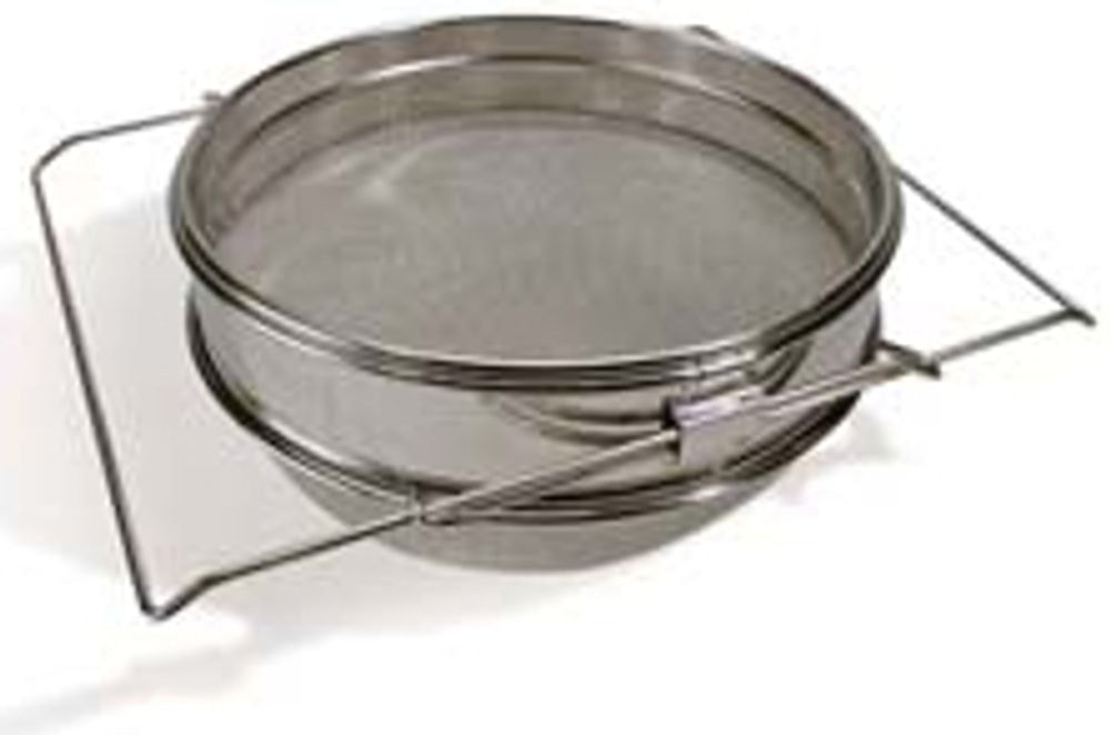Strainer/Sieve, double filter, stainless steel