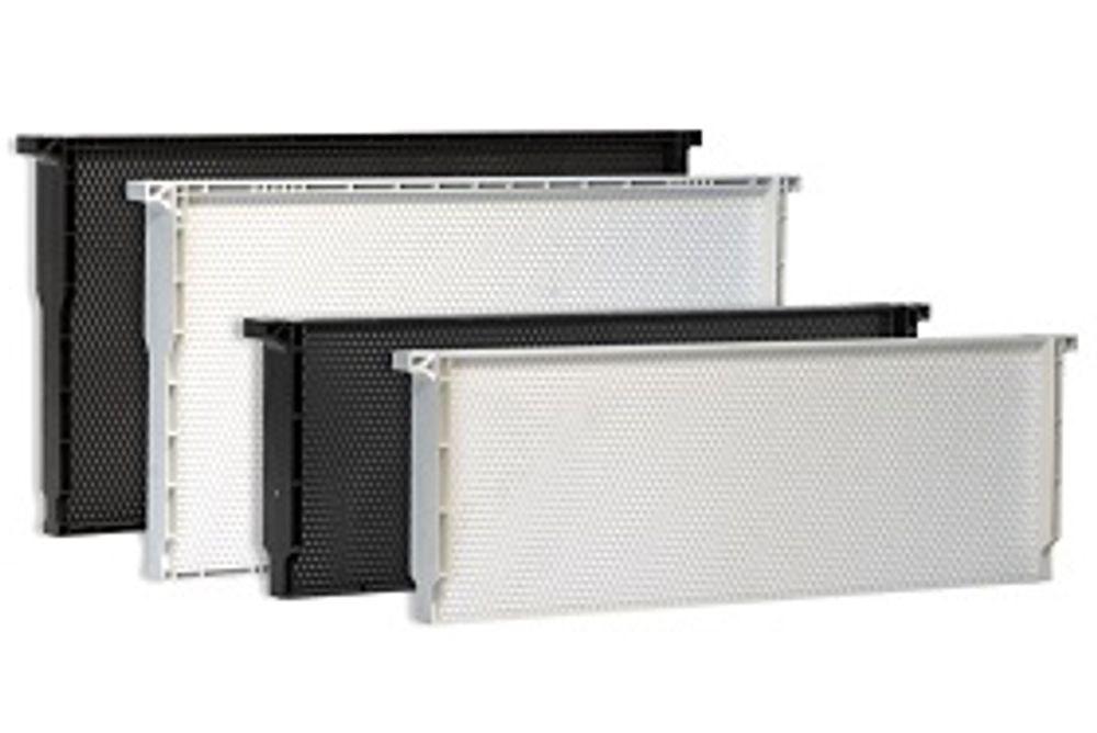 1 Piece Plastic Frame-Foundation, Medium, White