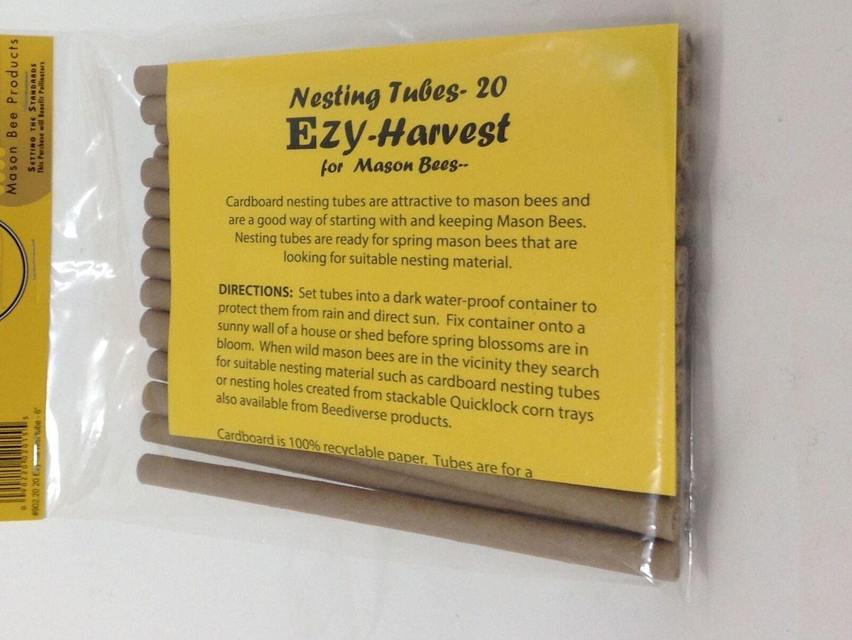 Mason Bee - Harvest Tubes, 20pk