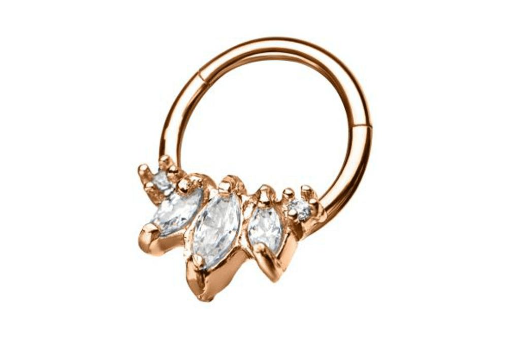Piercing Orecchio Cartilagine | Helix | Clicker Ring - Calypso Rose Gold