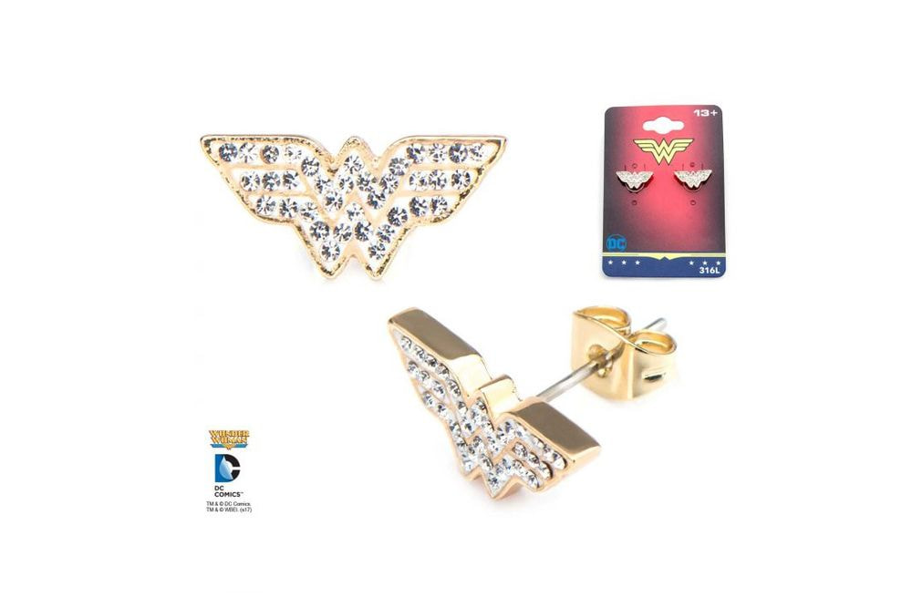 Orecchini Wonder Woman con brillantini