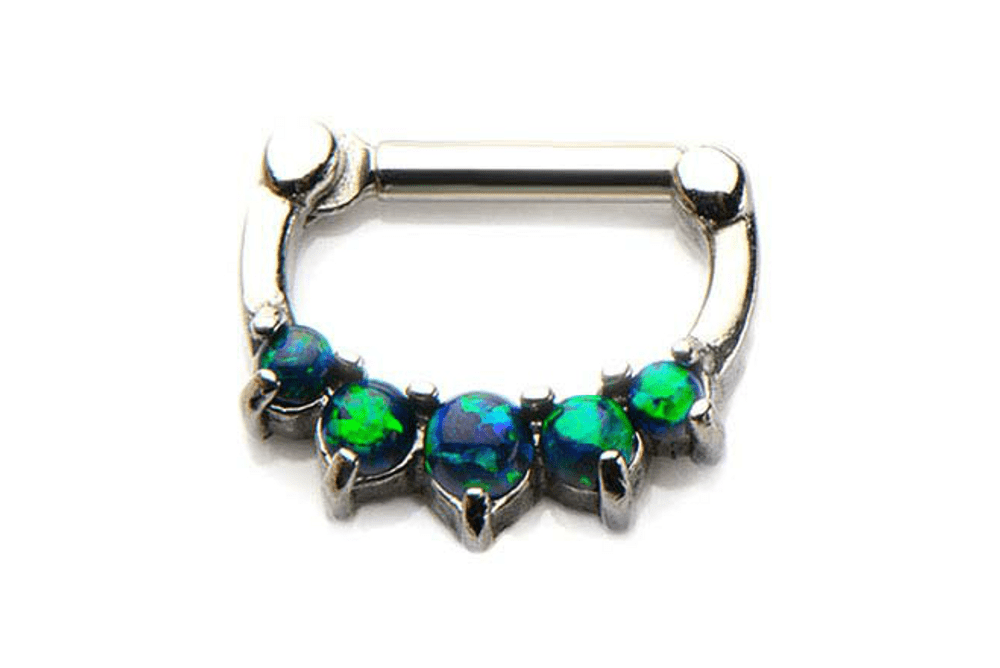 Clicker Piercing - Draco Black Opal