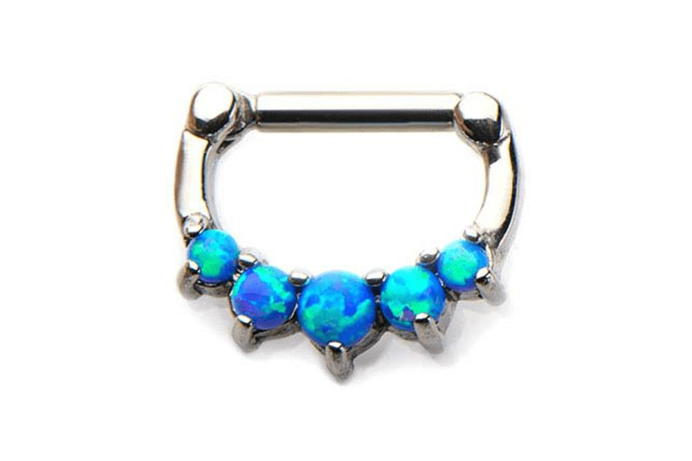 Clicker Piercing - Draco Blue Opal