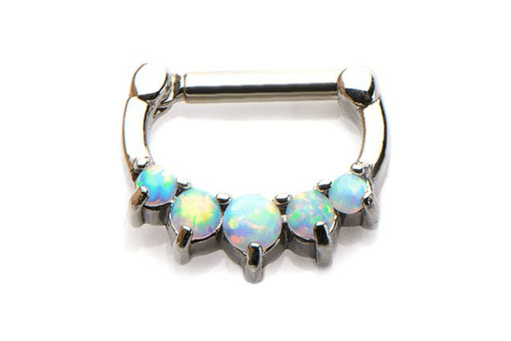 Clicker Piercing - Draco White Opal