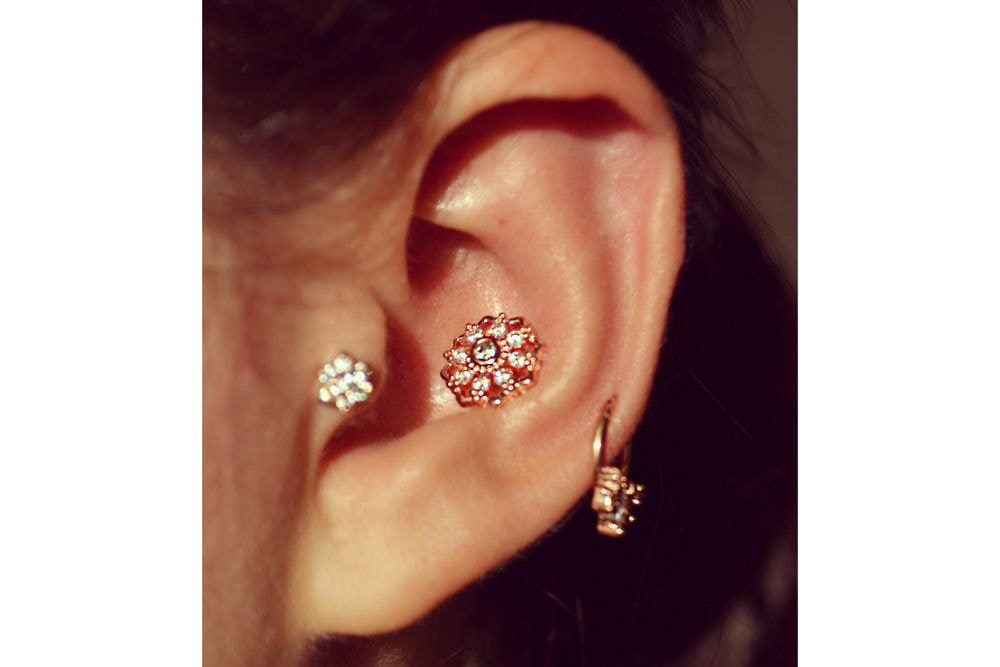 Barbell Piercing - Ambrosia Rose Gold Plated