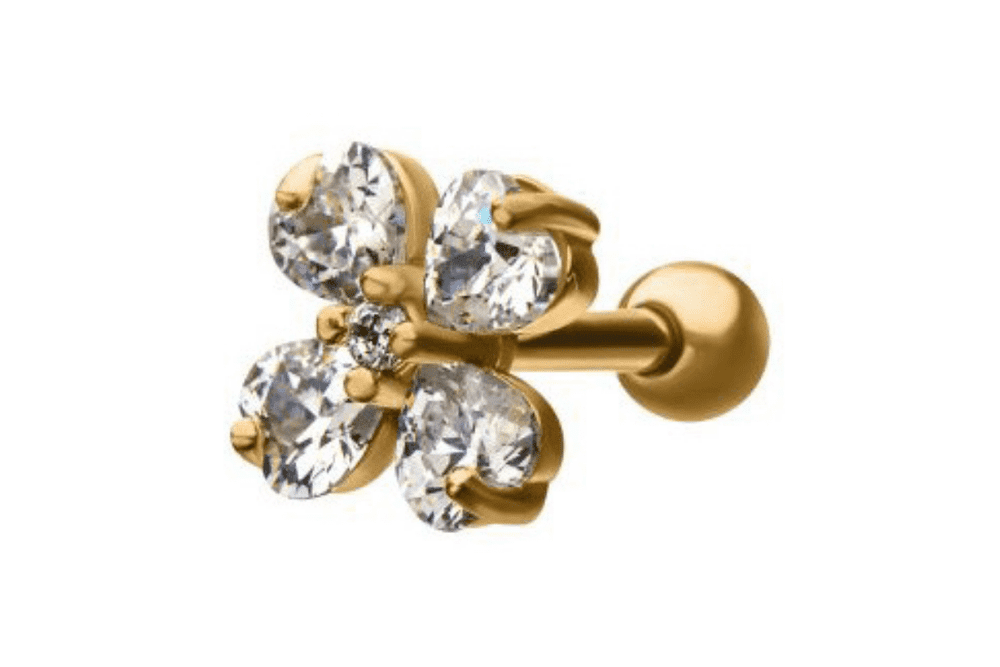 Barbell Piercing - Afrodite Gold Plated