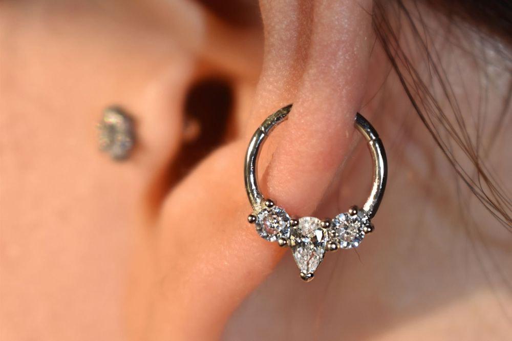 Piercing Orecchio Cartilagine | Helix • Daith • Septum | Clicker Ring - Mercurio