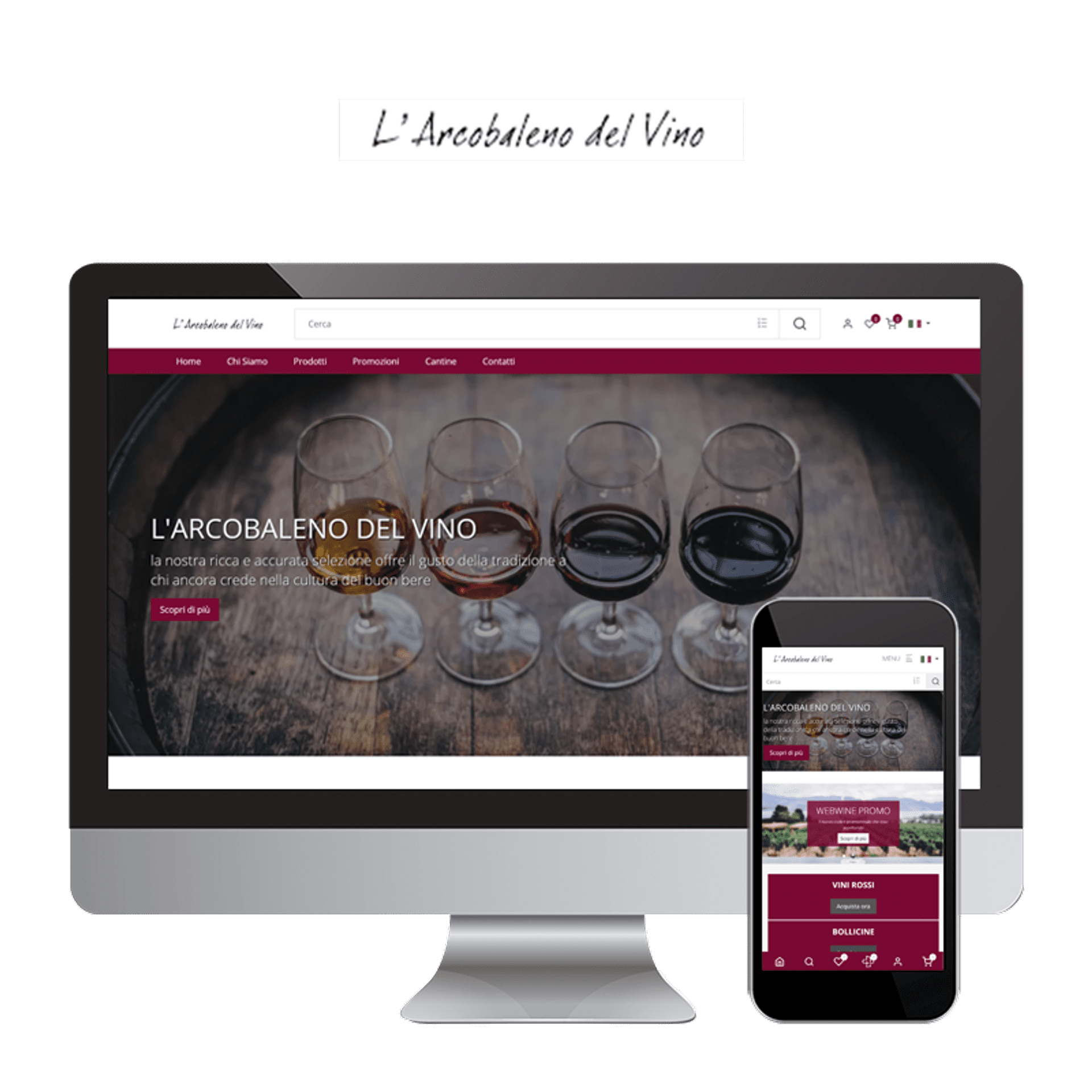 Wine Shop. Vaste choice of products offered. Professional advice for creating perfect wine lists.