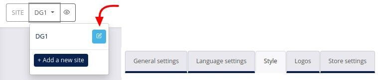 site settings style