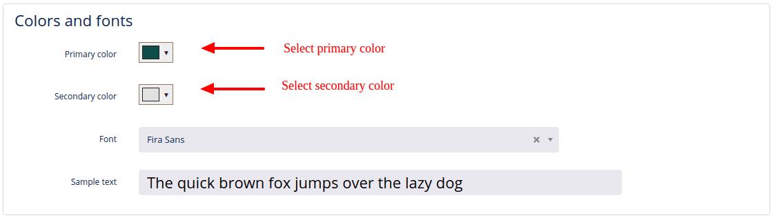 colors fonts