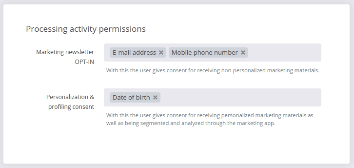 Importing contacts with permissions