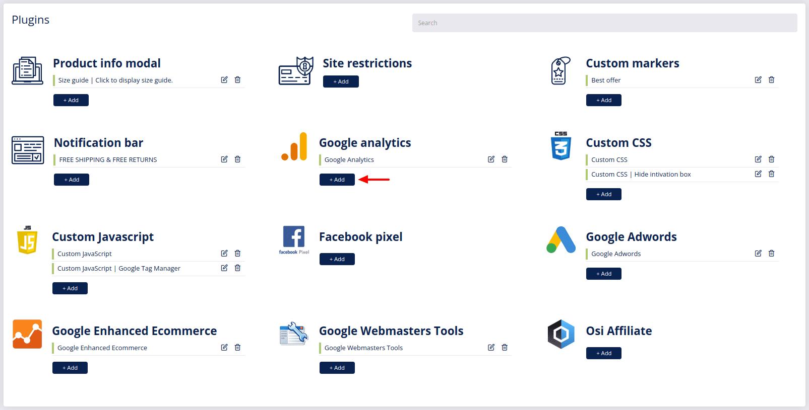 plugins google analytics add